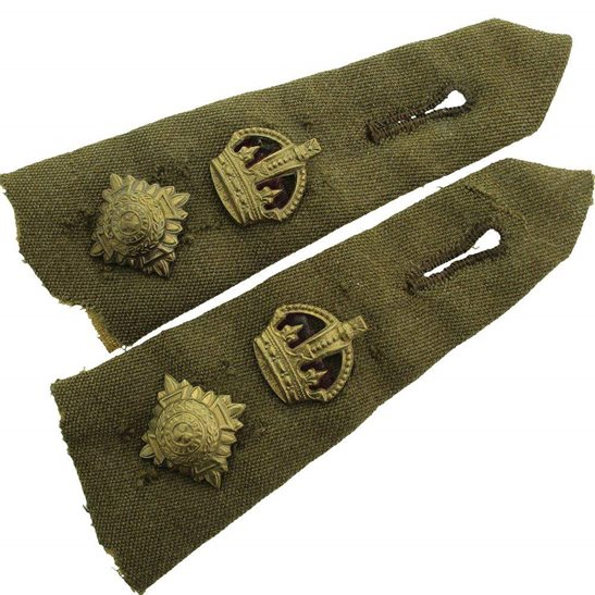 British Army Officers Insignia Pips - Rank of Lieutenant Colonel Epaulette  PAIR