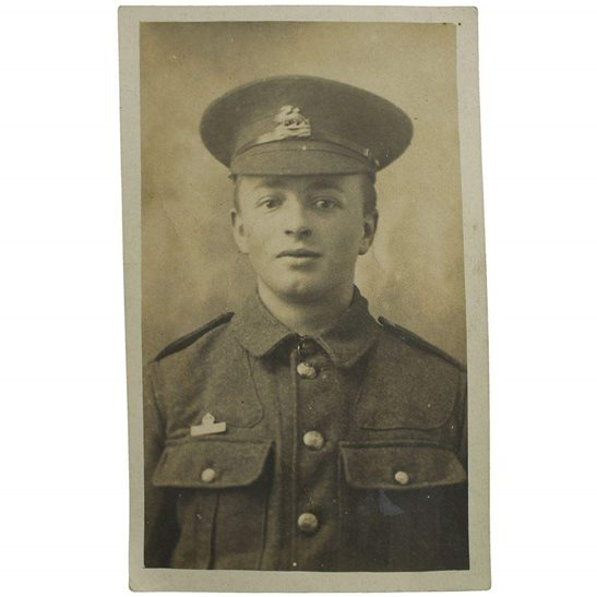 Royal Berkshire WW1 Photo of a Royal Berkshire Regiment Soldier with Imperial Service Badge