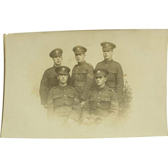 Duke of Cornwalls Light Infantry WW1 Photo Group of Duke of Cornwalls Light Infantry Regiment NCO Soldiers