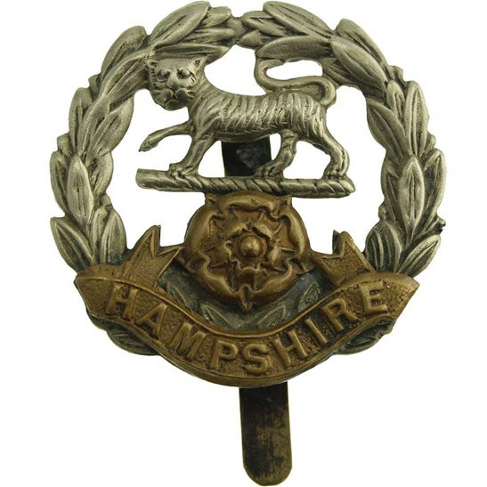 Hampshire Regiment WW1 Hampshire Regiment Cap Badge