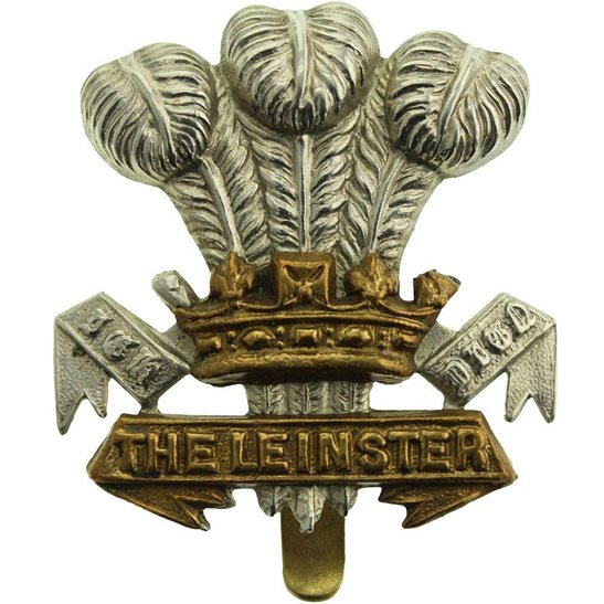 Leinster Regiment WW1 Leinster Regiment Irish Cap Badge