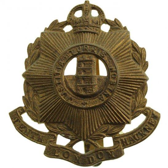 London Battalions WW1 10th Tenth Hackney Battalion County of London Regiment Cap Badge