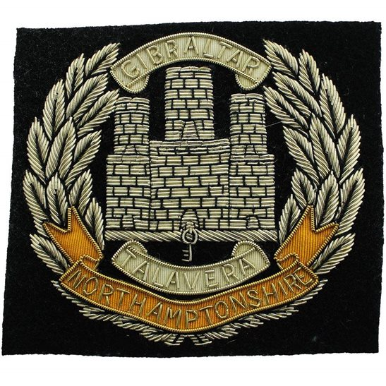 Northamptonshire Regiment Northamptonshire Regiment Cloth Wire BULLION Veterans Blazer Badge
