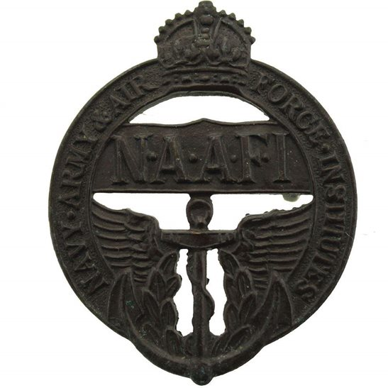 NAAFI Navy, Army and Air Force Institute NAAFI Cap Badge