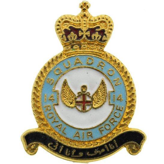 RAF Squadrons 6 Squadron Royal Air Force RAF Lapel Badge