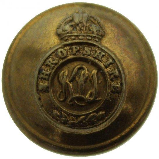Kings Shropshire Light Infantry KSLI Kings Shropshire Light Infantry KSLI King's Regiment SMALL Tunic Button - 19mm