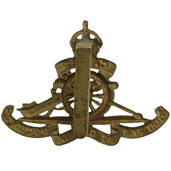 additional image for WW1 Royal Field Artillery Regiment CADET Corps MOVING WHEEL Cap Badge