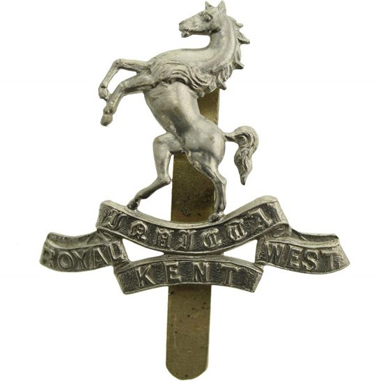 Royal West Kent WW1 Queens Own Royal West Kent Regiment RWK Cap Badge