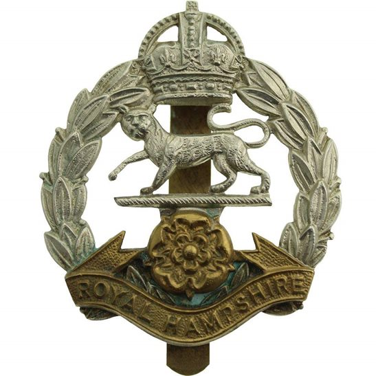 Hampshire Regiment 1946-1952 Royal Hampshire Regiment Cap Badge