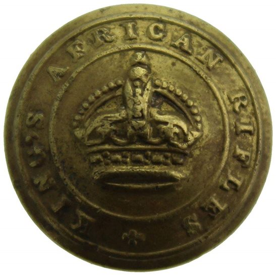 British Colonial Forces Kings African Rifles Regiment KAR King's SMALL Tunic Button - 20mm