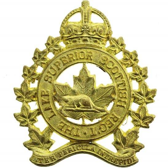 WW2 Canadian Army WW2 Canadian Lake Superior Scottish Regiment of Canada Cap Badge