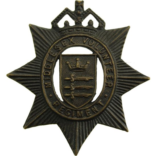 Middlesex Regiment WW1 Middlesex Volunteer Regiment VTC Corps Cap Badge