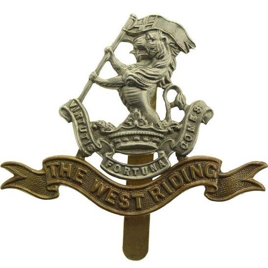 West Riding Duke of Wellingtons West Riding Regiment Cap Badge