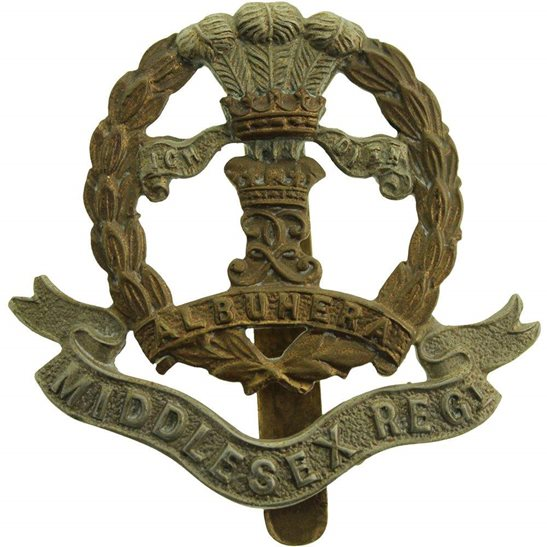 Middlesex Regiment WW1 Middlesex Regiment Cap Badge