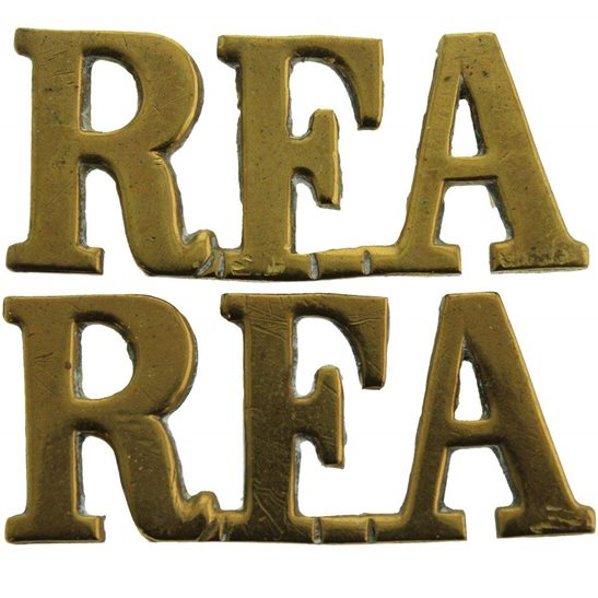 Royal Field Artillery RFA WW1 Royal Field Artillery RFA Shoulder Title PAIR