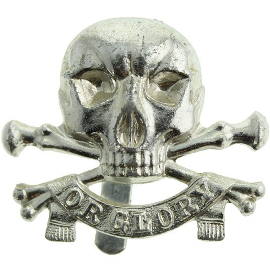 17th / 21st Lancers 17th / 21st Lancers Regiment Staybrite Anodised Cap Badge - Staybright