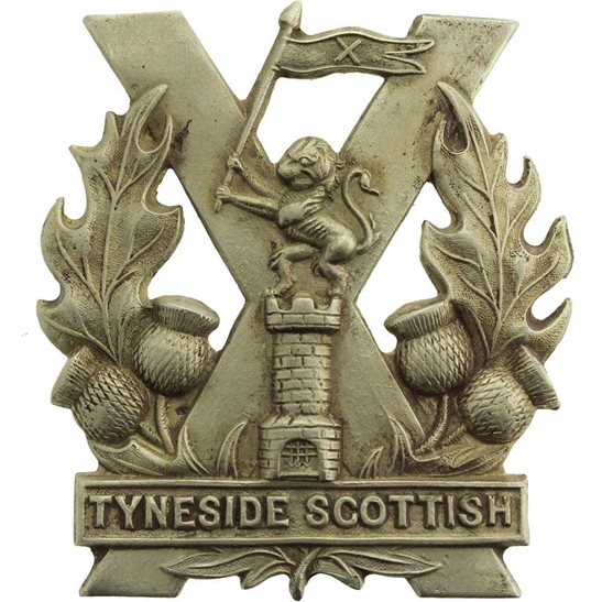 Tyneside Scottish WW1 Tyneside Scottish Regiment Cap Badge