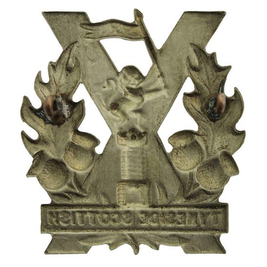 additional image for WW1 Tyneside Scottish Regiment Cap Badge