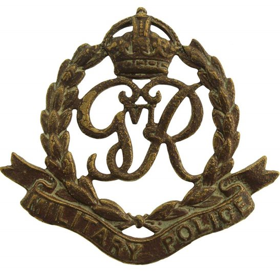 Royal Military Police RMP UK Dug Detecting Find - WW2 Royal Military Police RMP Corps Relic Cap Badge