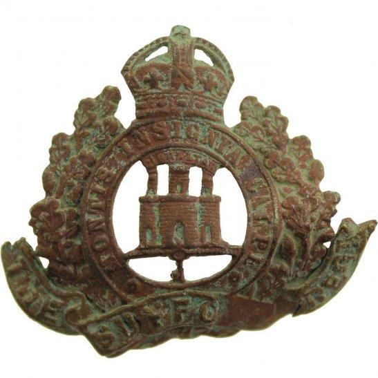 Suffolk Regiment UK Dug Detecting Find - WW1 Suffolk Regiment Relic Cap Badge