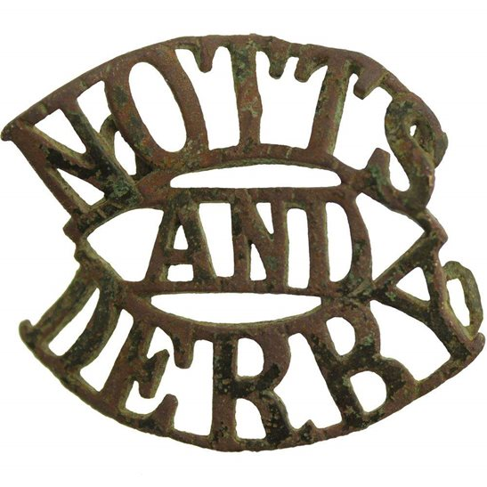 Notts & Derby UK Dug Detecting Find - WW1 Notts & Derby Regiment Relic Shoulder Title