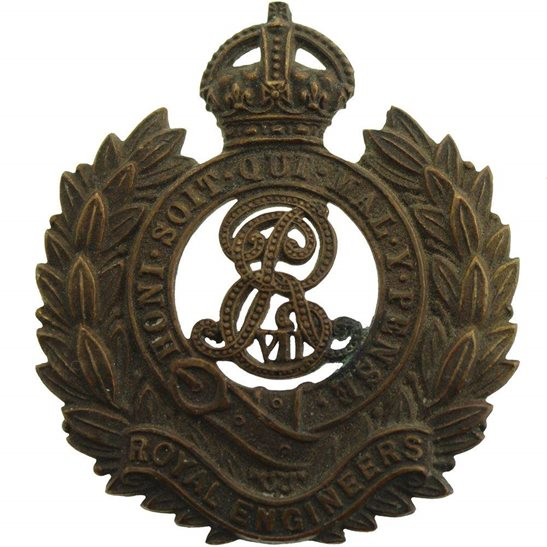 Royal Engineers EDWARDIAN Royal Engineers Corps (Edward VII) Cap Badge