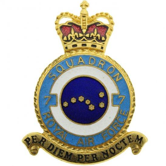 RAF Squadrons 7 Squadron Royal Air Force PLAQUE Badge RAF