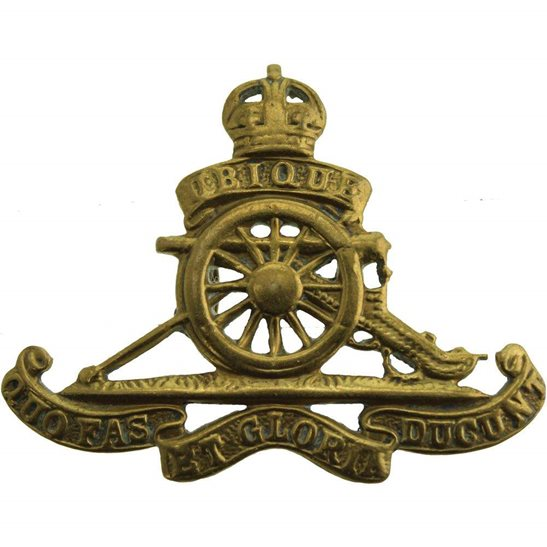 Royal Artillery WW2 Royal Artillery Regiment SMALL Beret Cap Badge