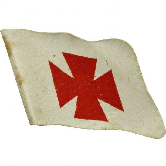 WW1 International Red Cross Charity Effort Flag Day Fundraising Pin Badge