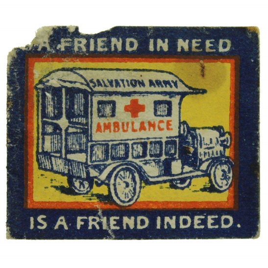 WW1 Salvation Army Ambulance Unit Flag Day Fundraising Pin Badge