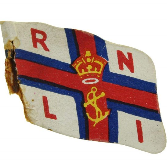 British Royal National Lifeboat Institute RNLI Flag Day Fundraising Pin Badge