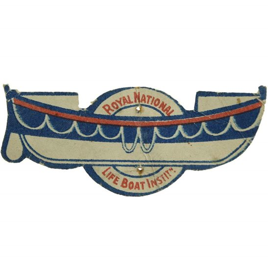 WW1 British Royal National Lifeboat Institute RNLI Flag Day Fundraising Pin Badge