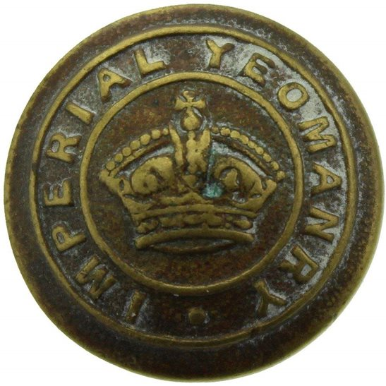 Imperial Yeomanry VICTORIAN Imperial Yeomanry London Regiment Tunic Button QVC - 20mm