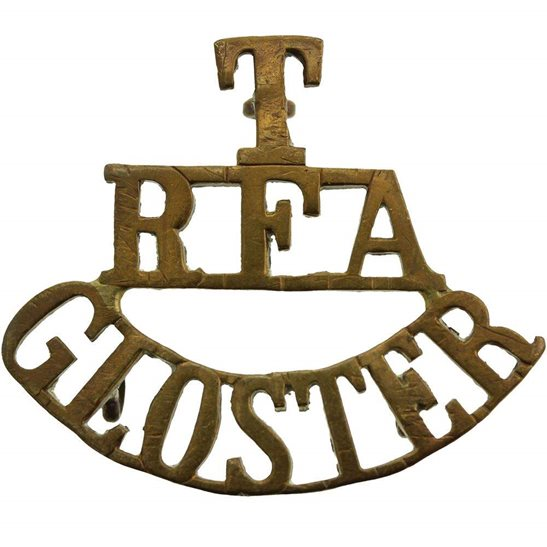 Royal Field Artillery RFA WW1 Territorial Gloucestershire Royal Field Artillery RFA Shoulder Title