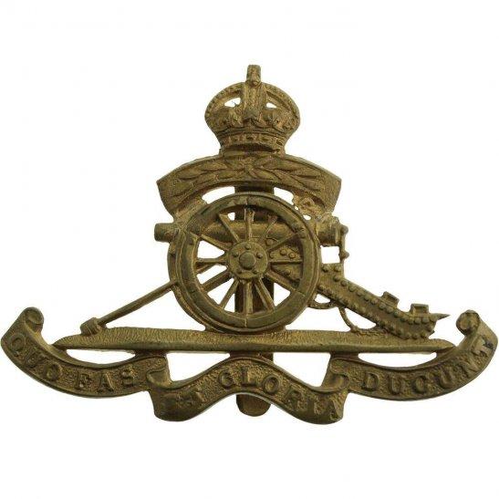 Royal Artillery Royal Artillery TERRITORIAL Volunteers 12 Leaves Cap Badge