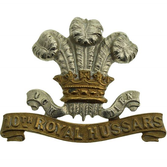 10th Royal Hussars VICTORIAN 10th Royal Hussars Regiment Cap Badge - LUGS VERSION