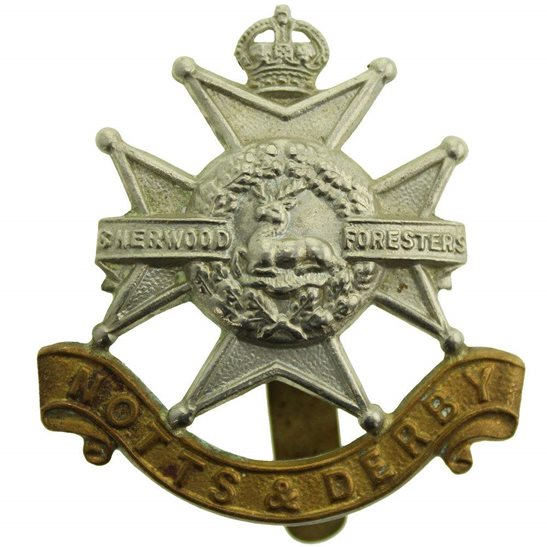 Notts & Derby WW2 Sherwood Foresters (Notts and Derby) Regiment Cap Badge