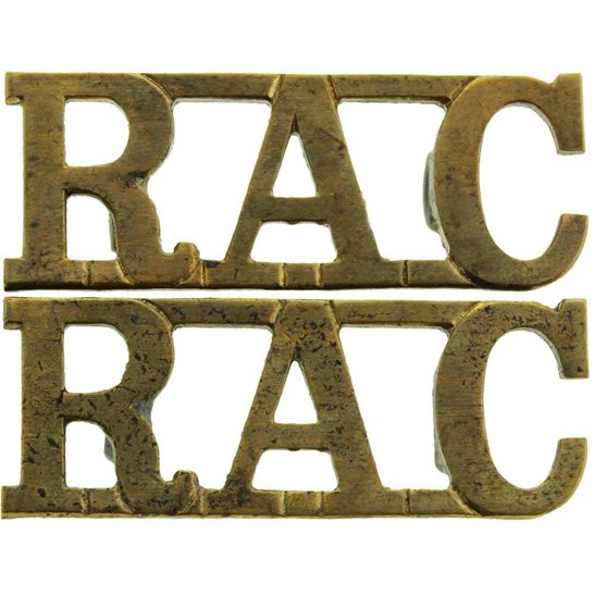 Royal Armoured Corps WW2 Royal Armoured Corps RAC Shoulder Title PAIR