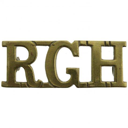 Royal Gloucestershire Hussars Royal Gloucestershire Hussars Regiment RGH Shoulder Title