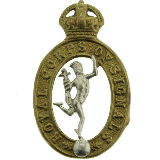 Royal Corps of Signals RCOS WW2 Royal Corps of Signals RCOS Collar Badge