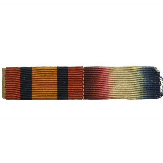 Boer War Queens South Africa QSA & WW1 1914/15 Star Medal Ribbon Bar - PIN BACK