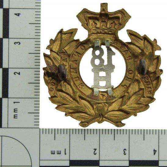 additional image for VICTORIAN 18th Hussars (Queen Mary's Own) Regiment Cap Badge