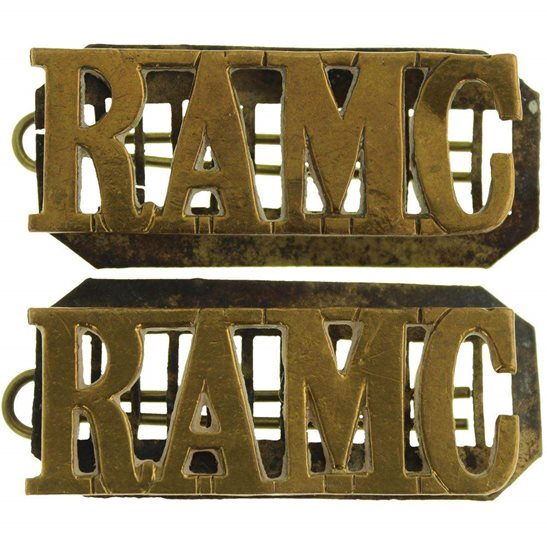 Royal Army Medical Corps RAMC Royal Army Medical Corps RAMC Shoulder Title PAIR