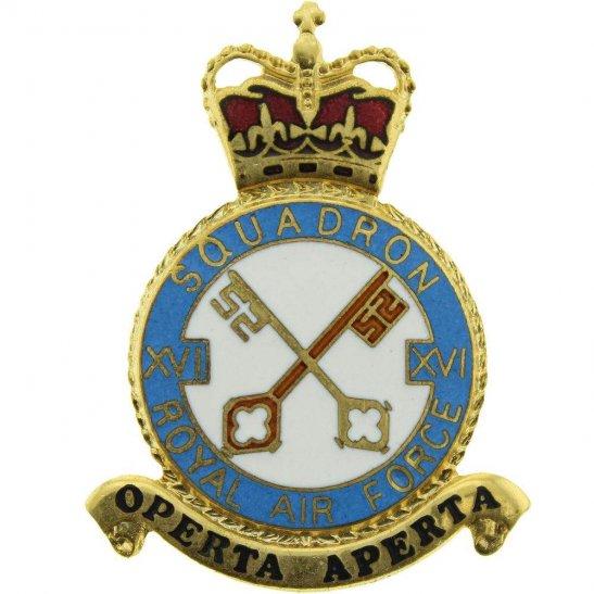 RAF Squadrons 16 XVI Squadron Royal Air Force PLAQUE Badge RAF