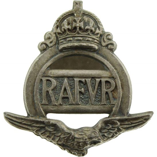 Royal Air Force RAF WW2 Royal Air Force RAF Volunteer Reserve RAFVR Silver Lapel Badge