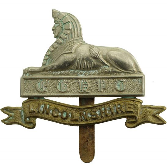 Lincolnshire Regiment WW1 Lincolnshire Regiment Cap Badge