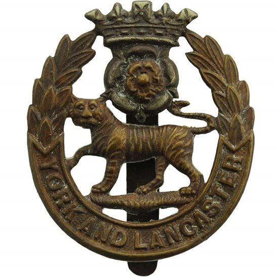 York & Lancaster WW1 York and Lancaster Regiment Cap Badge
