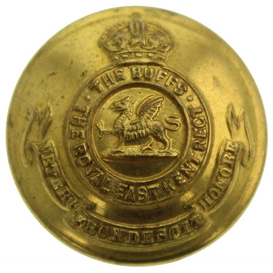 Buffs (Royal East Kent) WW1 Royal East Kent (The Buffs) Regiment Tunic Button - 26mm