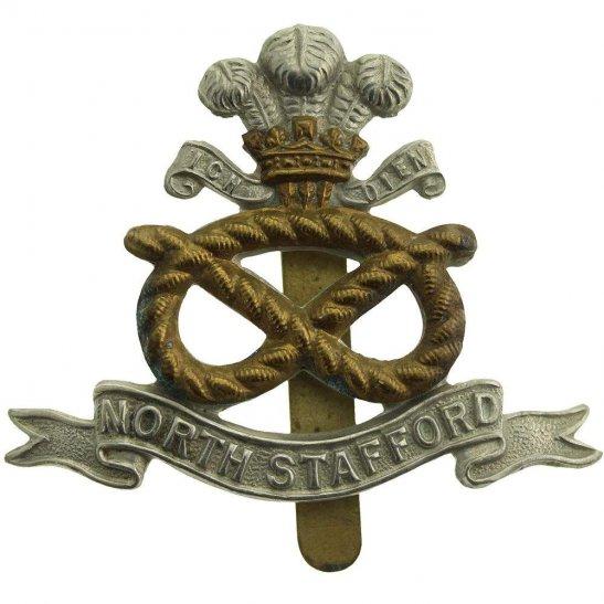 North Staffordshire North Staffordshire (Stafford) Regiment Cap Badge
