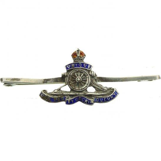 Royal Artillery WW1 Royal Artillery Regiment SILVER Sweetheart Brooch